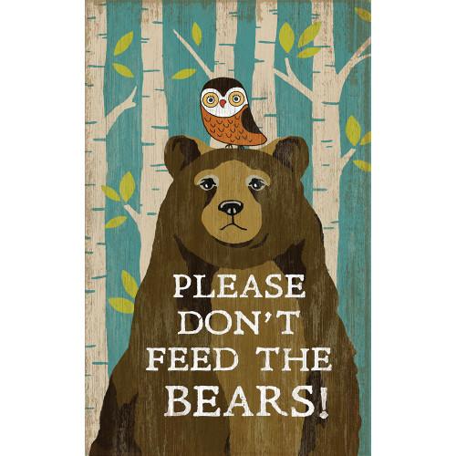 Please Don't Feed the Bears Wall Art