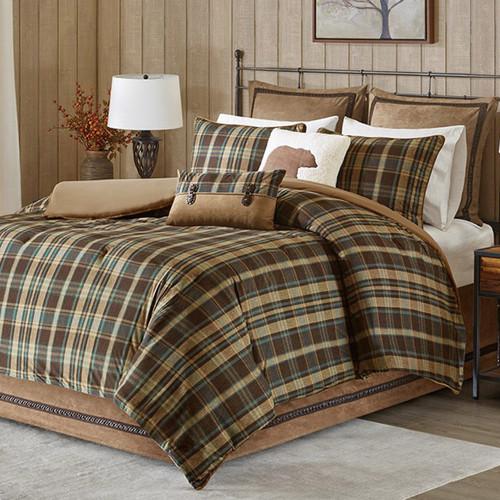 Chandler Plaid Comforter Set - King
