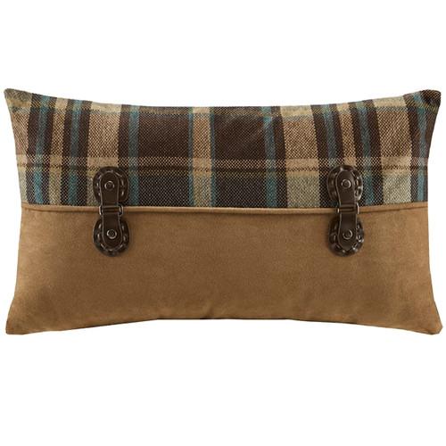 Chandler Plaid Pieced Oblong Pillow