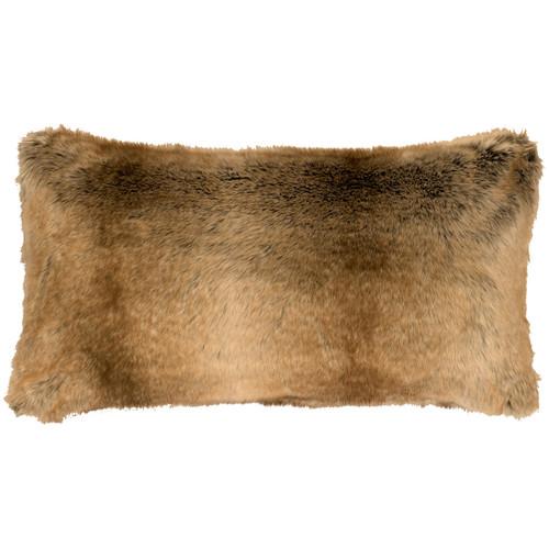 Chinchilla Faux Fur Rectangle Pillow