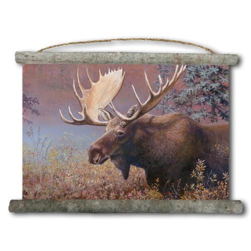 Chocolate Moose Canvas Wall Scroll