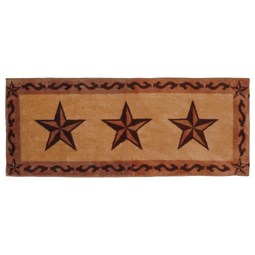 Chocolate Scrolls & Stars Bath Runner