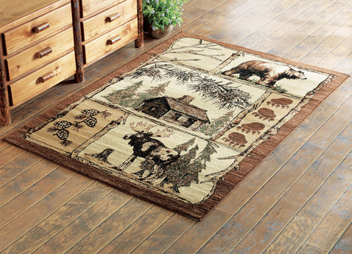 Moose & Bear Nature Rug Collection
