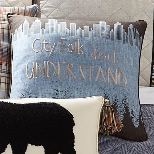 City Folk Pillow