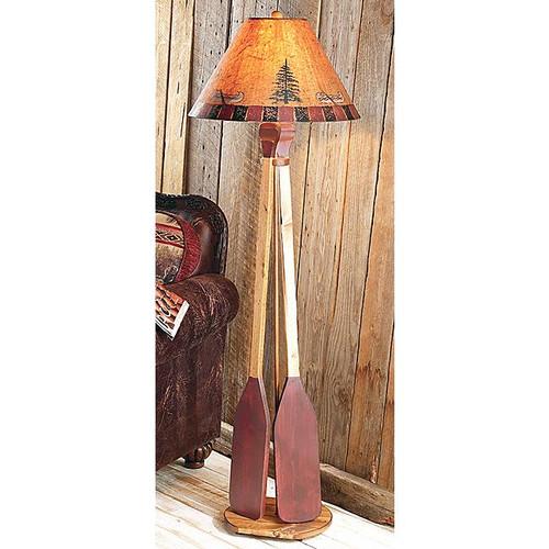 Canoe Paddle Floor Lamp