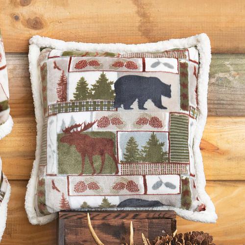 Bear & Moose Wilderness Plush Pillow