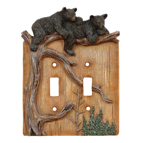 Climbing Bears Double Switch Plate