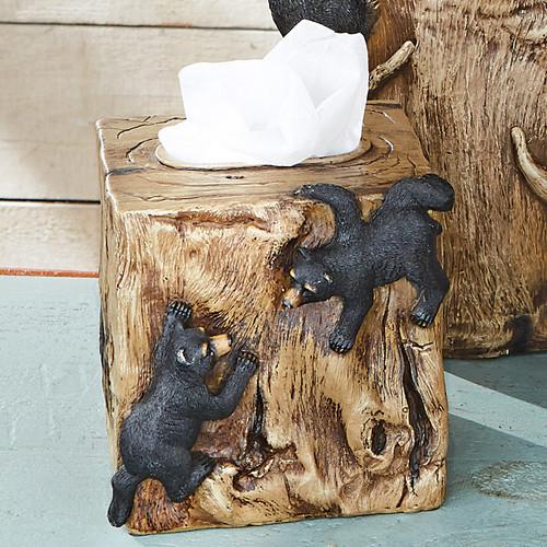 Climbing Black Bears Tissue Box