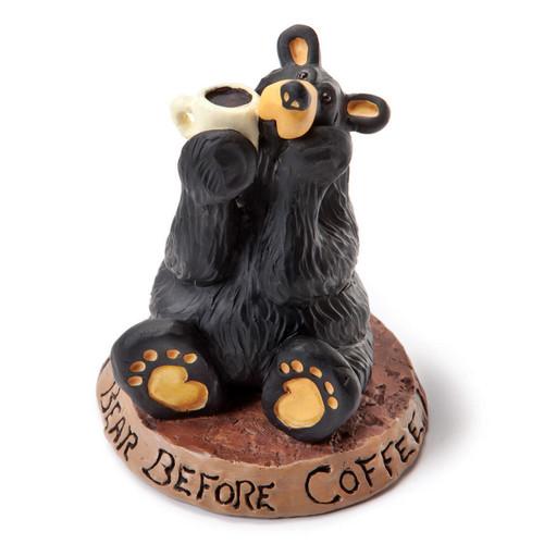 Coffee Loving Bear Figurine
