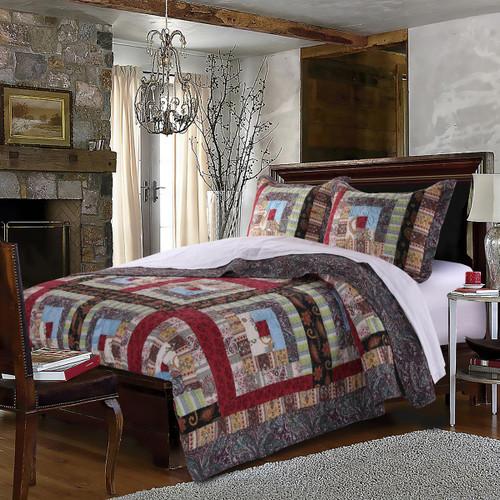 Colorado Lodge 3 Pc Quilt Set - Full/Queen