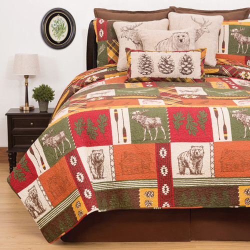 Colorful Cabin Quilt - King
