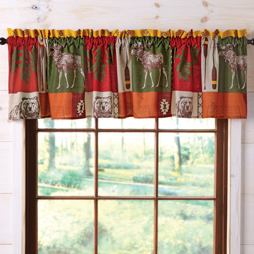 Colorful Cabin Valance