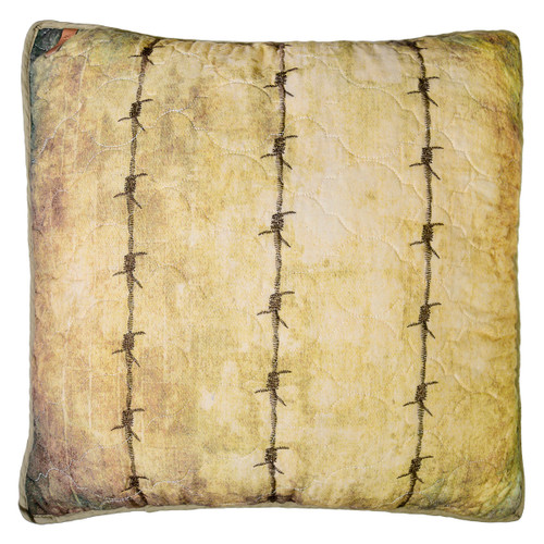 Country Cabin Barbed Wire Pillow