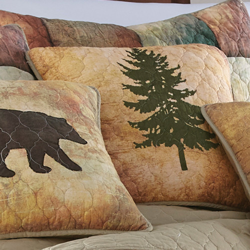 Country Cabin Tree Pillow