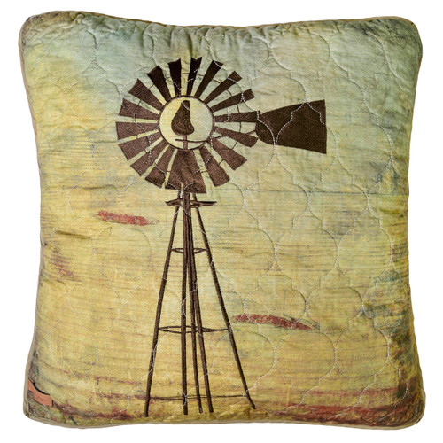 Country Cabin Windmill Pillow