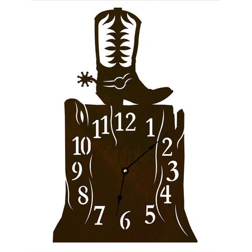Cowboy Boot Table Clock