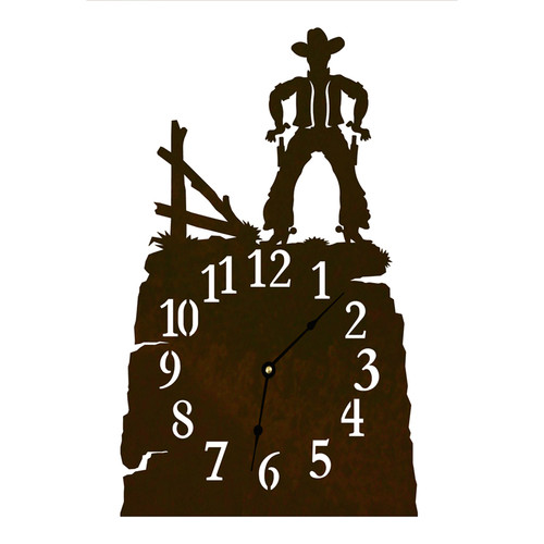 Cowboy Table Clock
