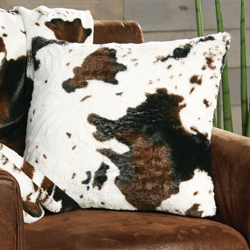 Cowhide Plush Pillow