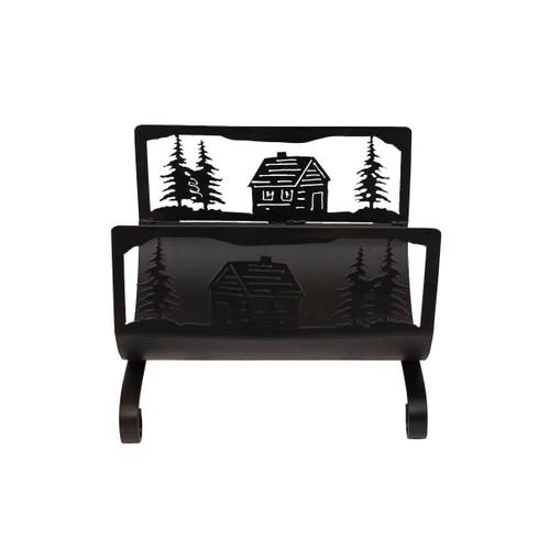 Cabin Scene Wood Holder