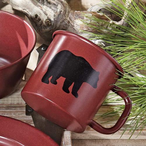 Crimson Bear Enamel Mug