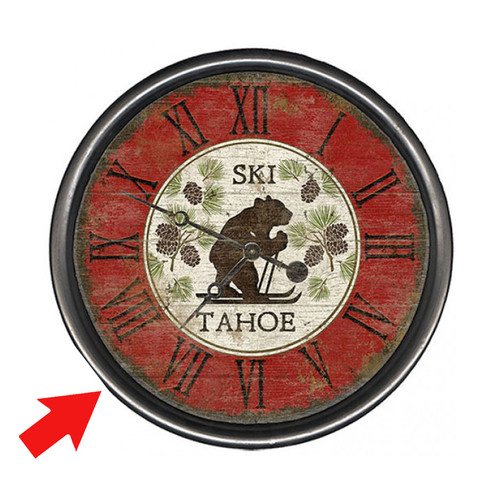 Cross Country Bear Personalized Wall Clock