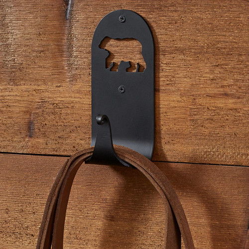 Cutout Bear Silhouette Single Hook