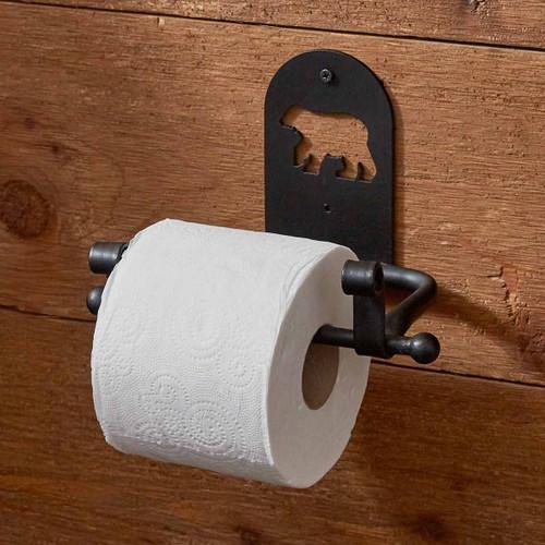 Cutout Bear Silhouette Toilet Paper Holder