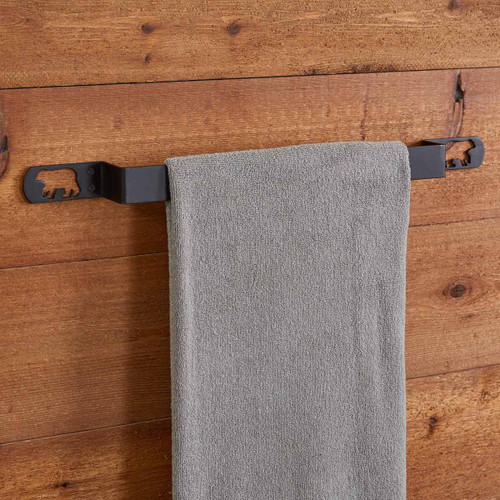 Cutout Bear Silhouette Towel Bar - 16 Inch