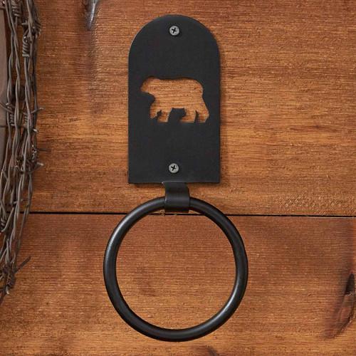 Cutout Bear Silhouette Towel Ring