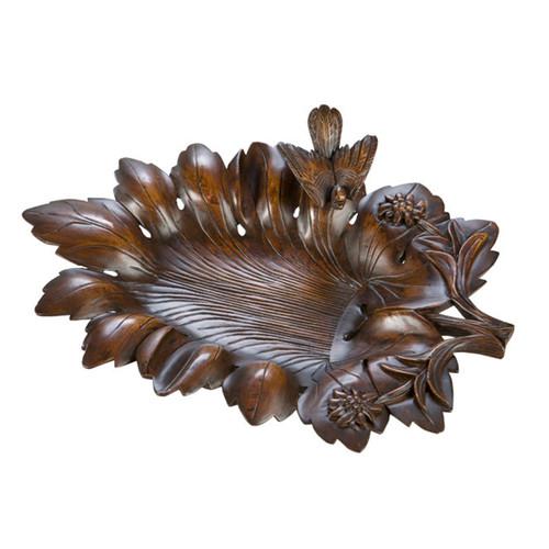 Dark Oak Leaf Tray
