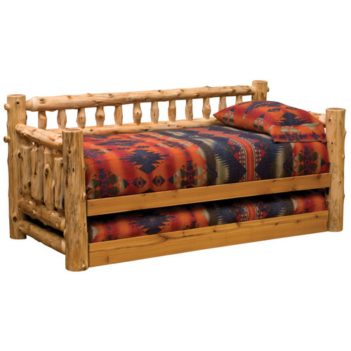 Log Daybed w/Trundle