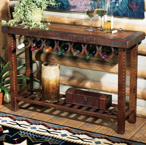 Horseshoe Wine Rack Table