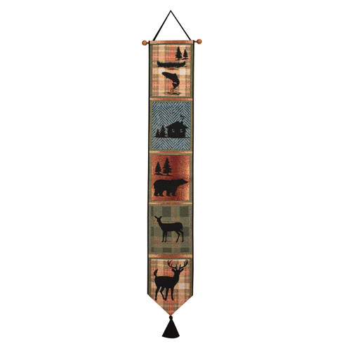 Deer & Bear Lake Tapestry Bell Pull