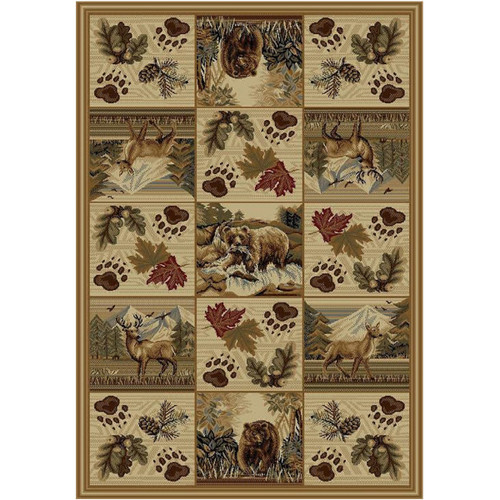 Deer & Bear Woodlands Rug - 5 x 8