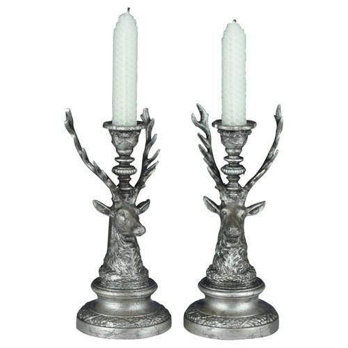 Deer Candleholders - Set of 2