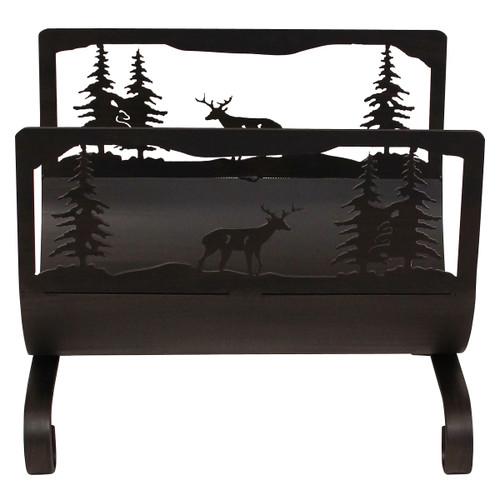 Deer Scene Wood Holder