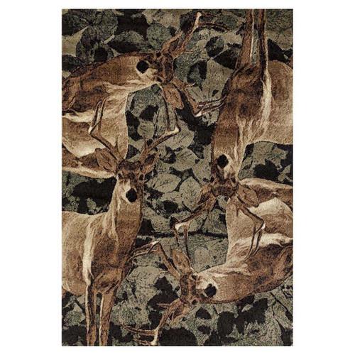 Deer Forest Rug - 8 x 11
