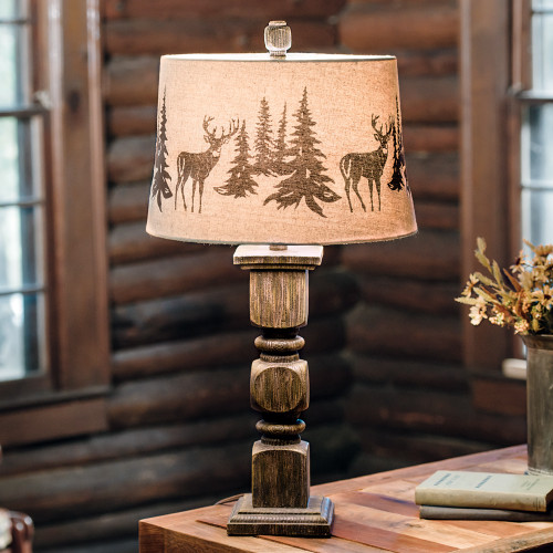 Deer Forest Table Lamp