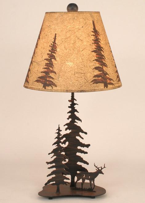Deer Metal Art Table Lamp