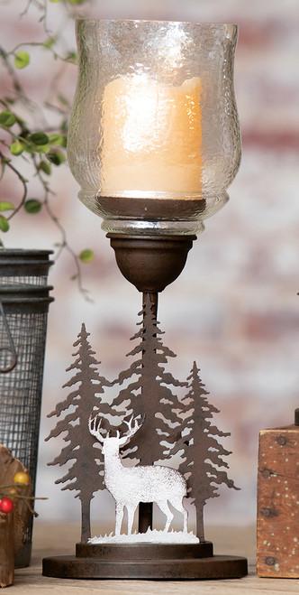 Deer Ridge LED Candle & Holder