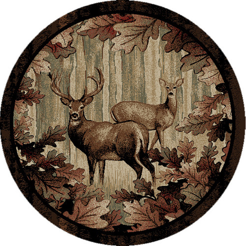 Deer Thicket Rug - 5 Ft. Round