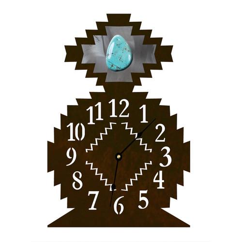 Desert Diamond with Turquoise Table Clock