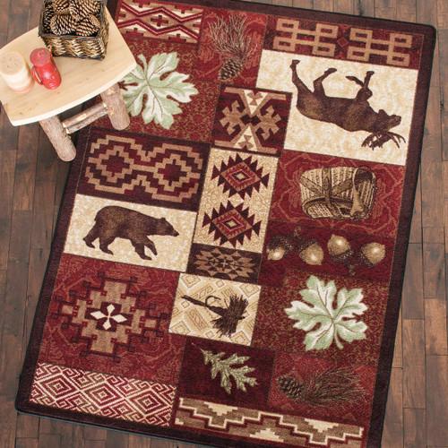Sunset Lodge Bear Rug Collection
