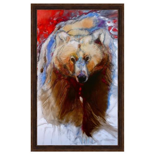 Determined Bear Framed Canvas