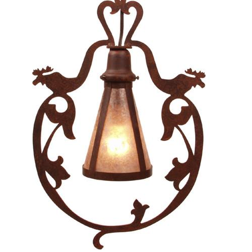 Dixon Ridge Moose Pendant Light - Rust