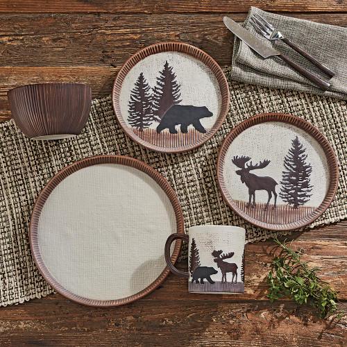 Timberland Moose & Bear Ceramic Dinnerware Collection