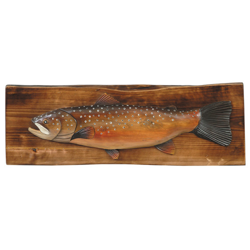 Brown Trout Wood Wall Hanging