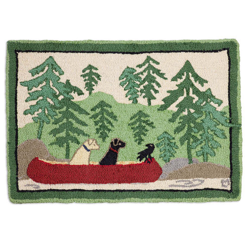 Dogs Day Out Hooked Wool Accent Rug