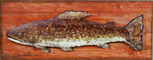 Dolly Trout Metal and Wood Wall Hanging