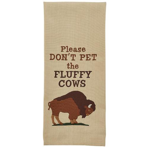 Don't Pet Embroidered Dishtowel